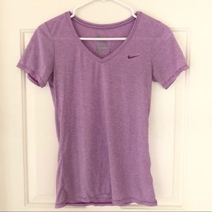 Nike V-neck T-shirt, Purple Xsmall